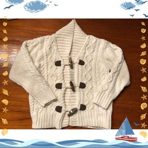 Janie and Jack cable knit cardigan.